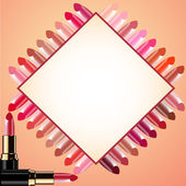 Background for message lipstick and probes — Stock Vector