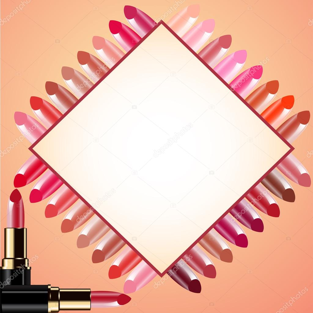 Illustration background for message lipstick and probes — Stock Vector #13766126