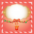 Background Christmas with spheres and tinsel for the invitation - Stock Vector