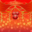 Background with Christmas baubles and beads — Stock Vector #15013445