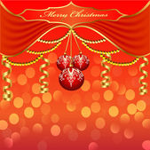 Background with Christmas baubles and beads — Stock Vector