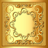 Background frame with gold pattern and texture — Stock Vector