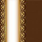 Background with gold(en) pattern and net — ストックベクタ