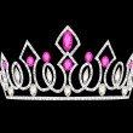 Tiara crown women — Stock Vector