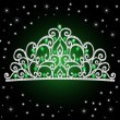 Royalty-Free Stock Vector Image: Illustration of women\'s tiara crown wedding with green stones