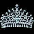 Royalty-Free Stock Imagen vectorial: Feminine wedding tiara crown with tassels