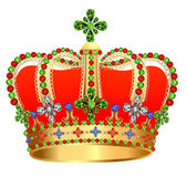 Of royal gold crown with jewels — Stock Vector