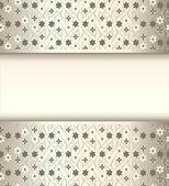 Cornice di sfondo con i fiori di seta con lucentezza metallica — Vettoriale Stock