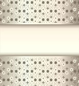 Background frame with flowers of silk with metal luster — Stockvektor