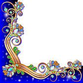 背景与宝石和黄金的几何设计 — 图库矢量图片