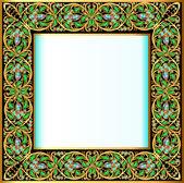 帧与珠宝和黄金的几何设计 — 图库矢量图片