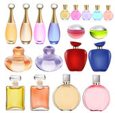 Of a set of perfume bottles — Stock Vector