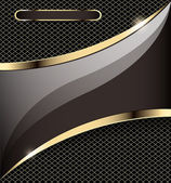 Background with a gold stripe and grid — 图库矢量图片