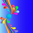 Llustration colorful background with rainbow and drop — Vektorgrafik