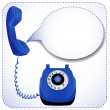 Stock Vector: Telephone with raised tube for messages