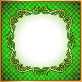A background a frame with a gold ornament — Stock Vector