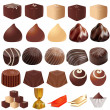 Illustrations assortment of different sweets — Stock Vector