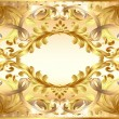 Background  painting frame, with ornaments of gold — Vektorgrafik