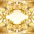 Background  painting frame, with ornaments of gold — Imagen vectorial