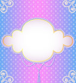 Gentle background frame with a pearl ornament — 图库矢量图片