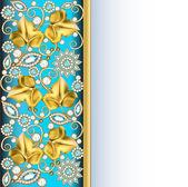 Telaio verticale sfondo con gioielli di ornamenti — Vettoriale Stock