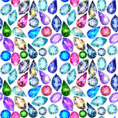 Seamless background with glittering precious stones — Vector de stock