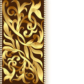 Of the background and ornament of gold for invitations — Vettoriale Stock