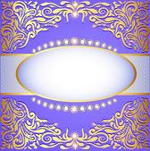 Sfondo con ornamenti d'oro e gioielli scintillanti — Vettoriale Stock