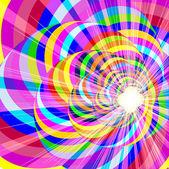 спектр стола с винтовой линии и яркие вспышки — Cтоковый вектор