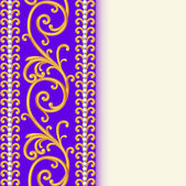 background with ornaments and precious stones — Vector de stock