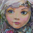 Little fairy, painting — Stock fotografie