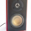 Two way brown audio speaker — Stock Photo #4262080