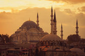 Mosque in Istanbul at sunset — Stock Photo
