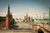 Red Square, Kremlin and the Cathedral St. Basil's — Stock Photo