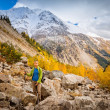 Stock Photo: Hiking in the mountains