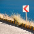 Road sign on Winding Road — Foto Stock