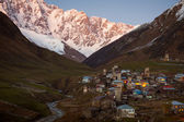 Village Ushguli. Svaneti. Georgia — Stock Photo