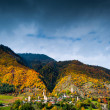 Autumn in Svaneti, Georgia — Stock Photo