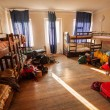 Stock Photo: Beds in Hostel