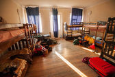 Beds in Hostel — Stock Photo