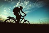 Bike silhouette — Stock Photo