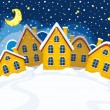 Vector illustration of Christmas suburbs — Stock Vector
