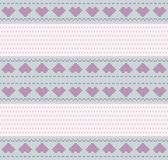 Valentine background embroidered cross — Stock Photo