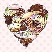 Heart of sweets — Stock Vector