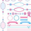 Frameworks and ribbons set - Stock Vector