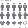 Set of medical icons - Stock Vector