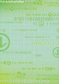 Abstract digital green background with arrows — Stock Photo