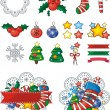 Christmas holiday icons and symbols — Stock Vector