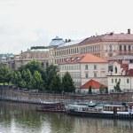 View of Vltava River Embankment in Prague, the Czech republic — Stock Photo #11968233