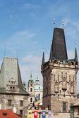 盯着新城 (旧城) 认为,布拉格,捷克共和国 — 图库照片